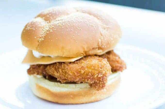 Crispy Panko Breaded Fish Sandwich