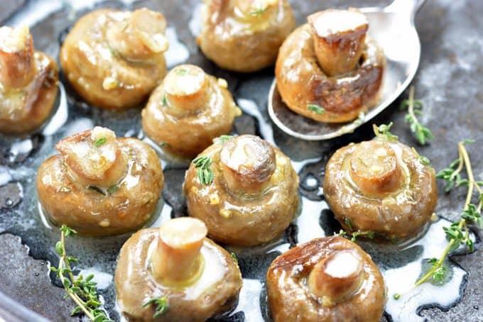 Foodie and Wine Roasted Mushrooms