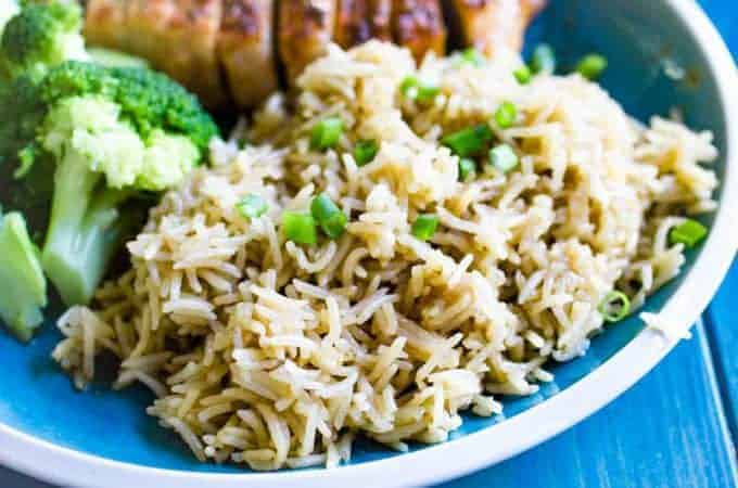 Instant Pot Stick of Butter Rice is a delicious and easy side dish that is full of flavor!