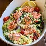 Salmon Orzo Greek Pasta Salad