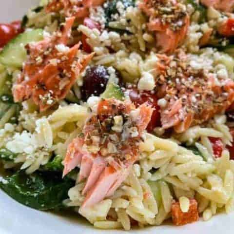 Easy Salmon Orzo Pasta Salad | Delicious grilled lunch or dinner ...