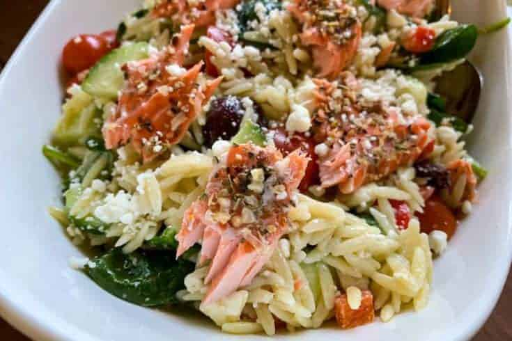 Easy Salmon Orzo Pasta Salad