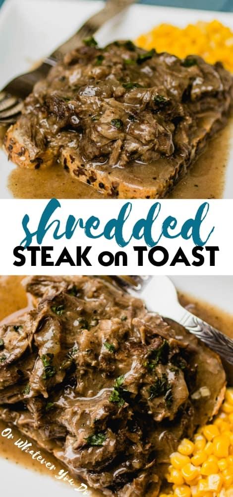 Shredded Steak on Toast