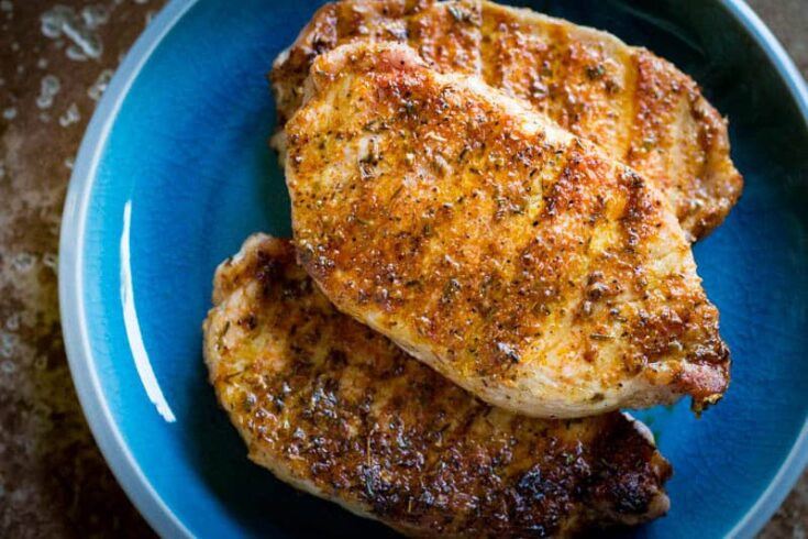 Traeger Blackened Pork Chops