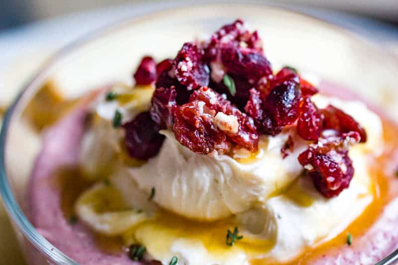 Whipped Cranberry Goat Cheese