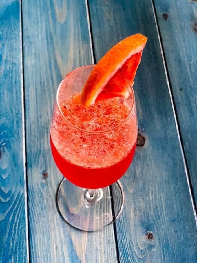 Blood Orange Cider Mimosa