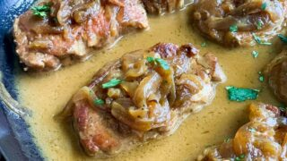 Instant Pot Pork Chops with Dijon Cream Sauce