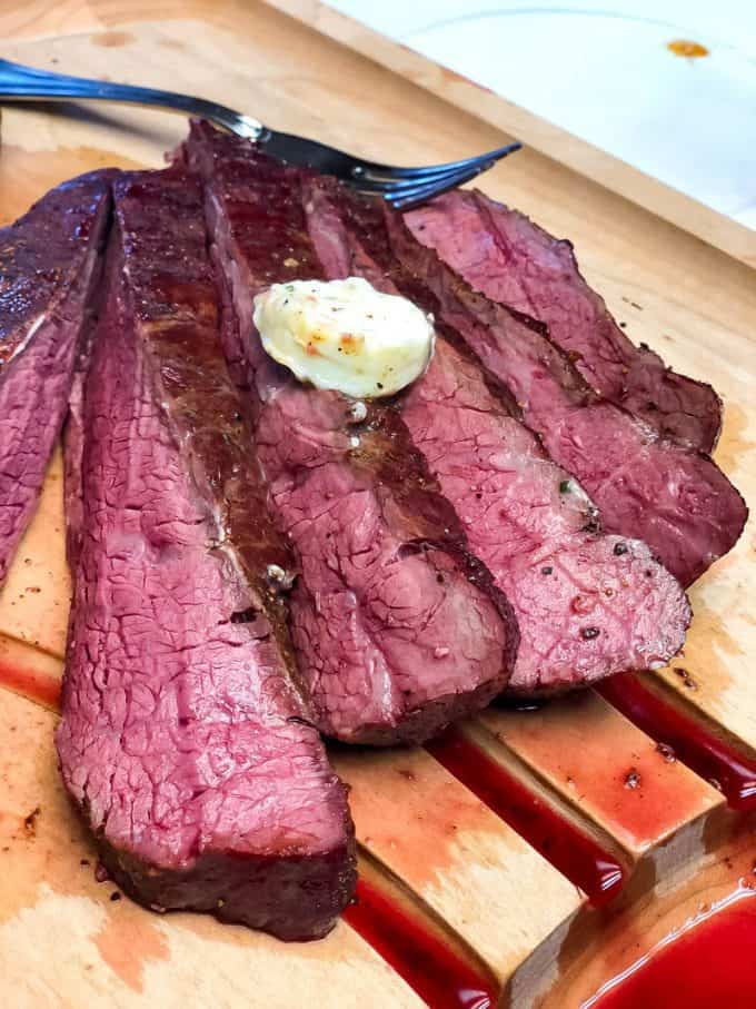 Reverse Seared Flank Steak