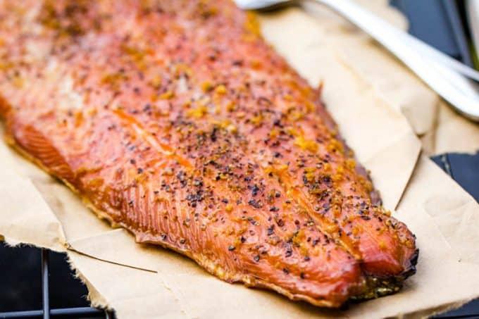 Lemon Pepper Smoked Salmon Traeger Grilled Hot Salmon Recipe