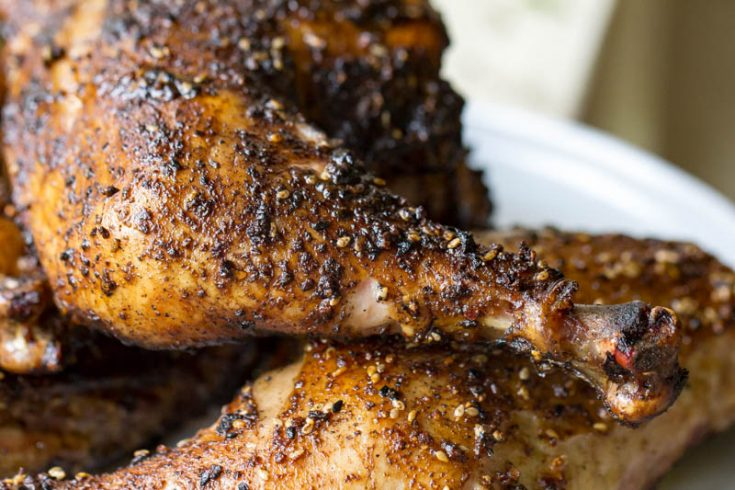 Grilled Chicken Leg Quarters