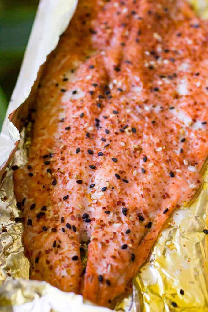 Traeger Grilled Salmon with Togarashi