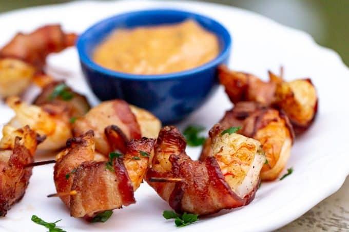 Traeger Bacon-Wrapped Shrimp
