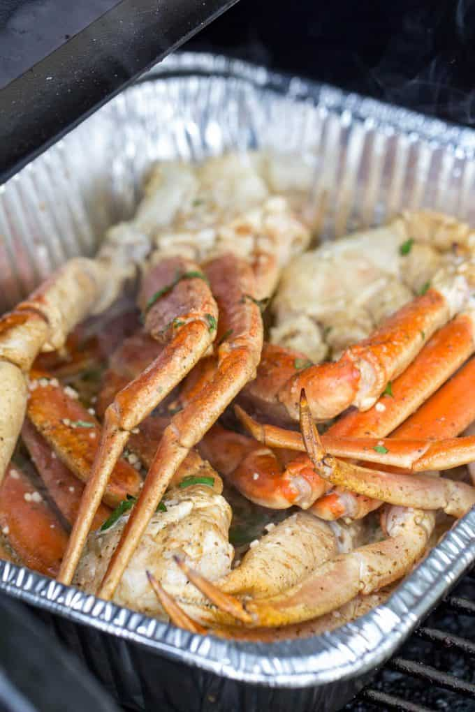 Traeger Grilled Crab Legs | Easy wood-fired crab leg recipe