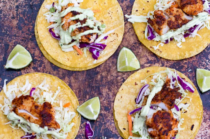 Traeger Blackened Fish Tacos