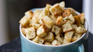 Traeger Grilled Croutons