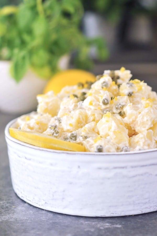 Lemon Piccata Potato Salad | vegan gluten free potluck