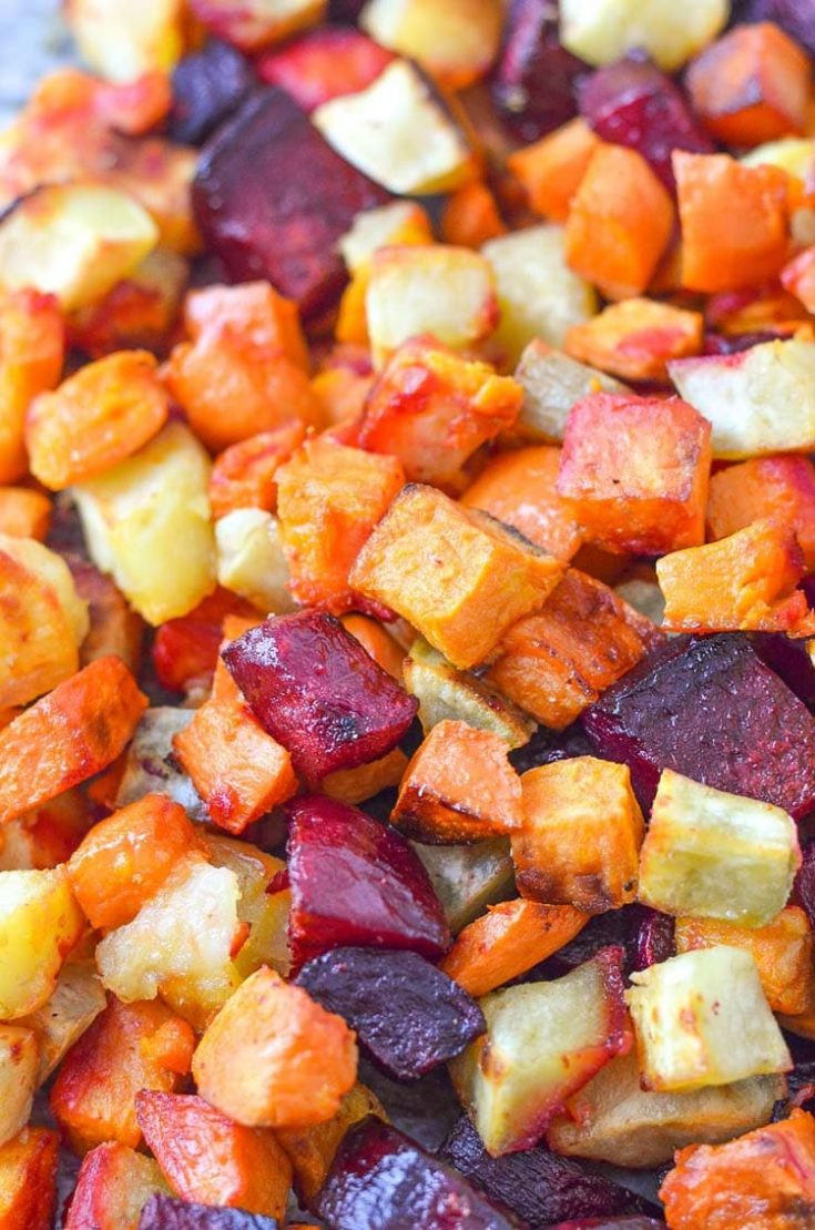 Roasted Beets and Sweet Potatoes
