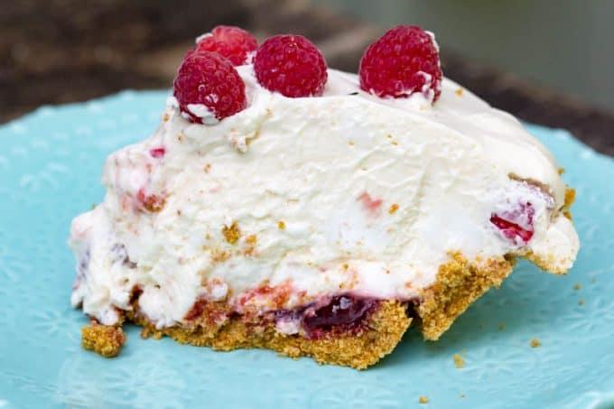 Raspberry Fluff Pie