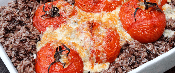 Wild Rice and Roasted Tomatoes Instant Pot