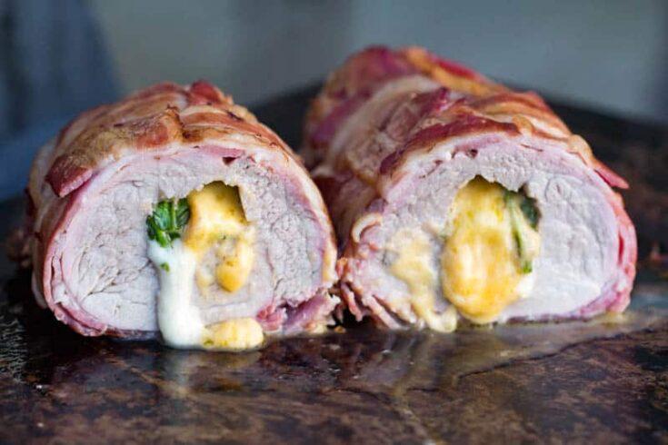 Traeger Grilled Stuffed Pork Tenderloin