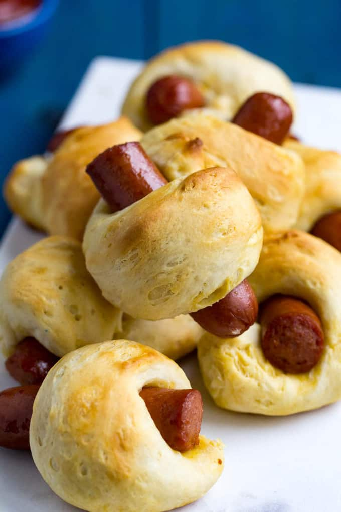 Easy Traeger Pigs In A Blanket Grilled Biscuit Hot Dogs