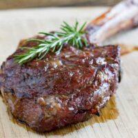 Grilled Reverse Seared Tomahawk Steak