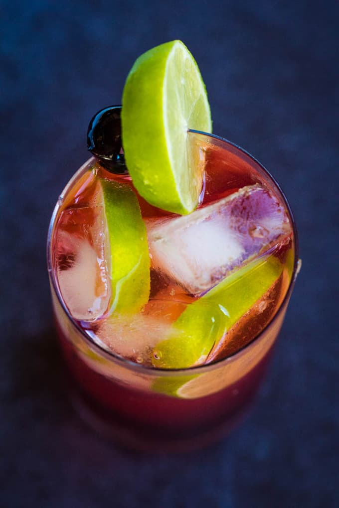 Cherry Gin and Tonic