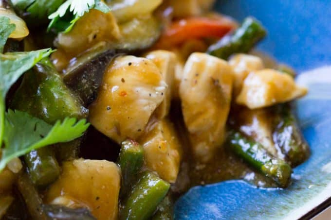 Chicken And Eggplant Stir Fry Easy Dinner Recipe
