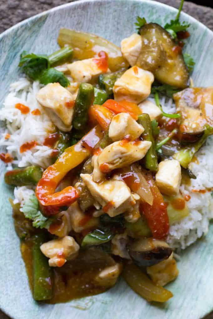 Chicken And Eggplant Stir Fry Easy Dinner Recipe