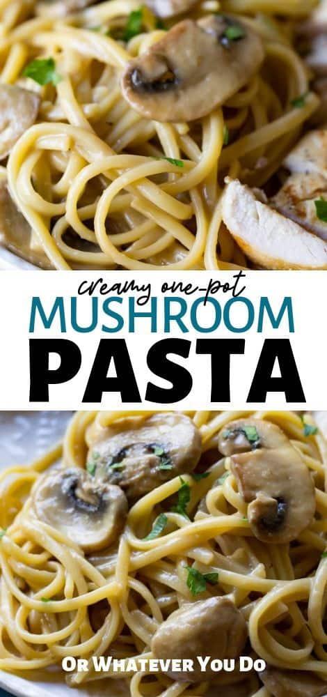 Creamy One-Pot Mushroom Pasta