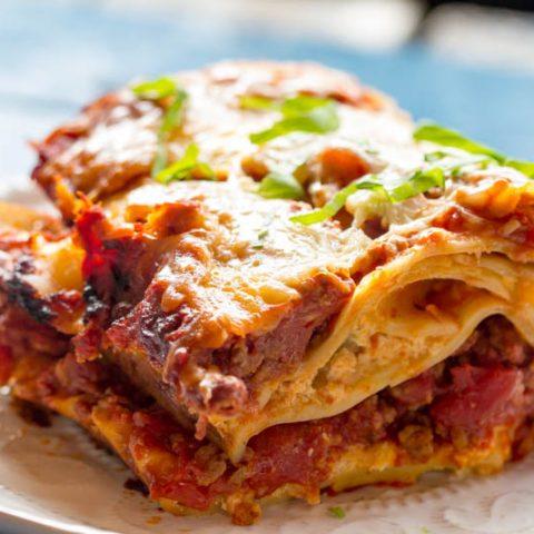 Traeger Grilled Lasagna