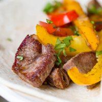 Reverse Seared Steak Fajitas