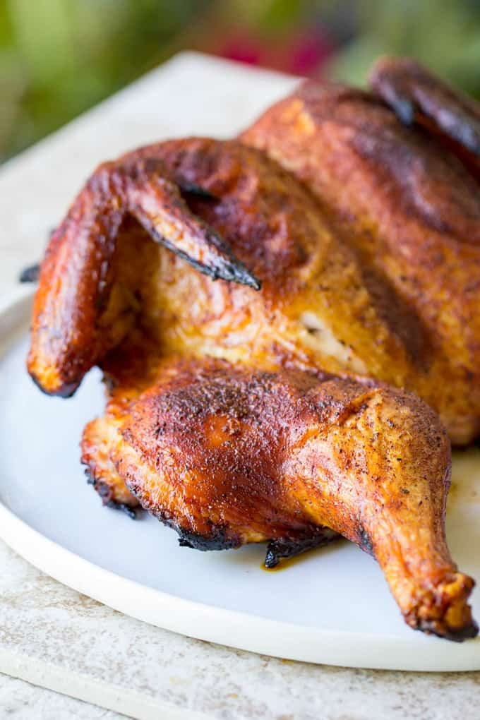 Traeger Spatchcock Chicken Smoked Pellet Grill Whole Chicken