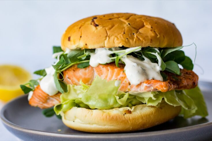 Grilled Salmon Sandwich