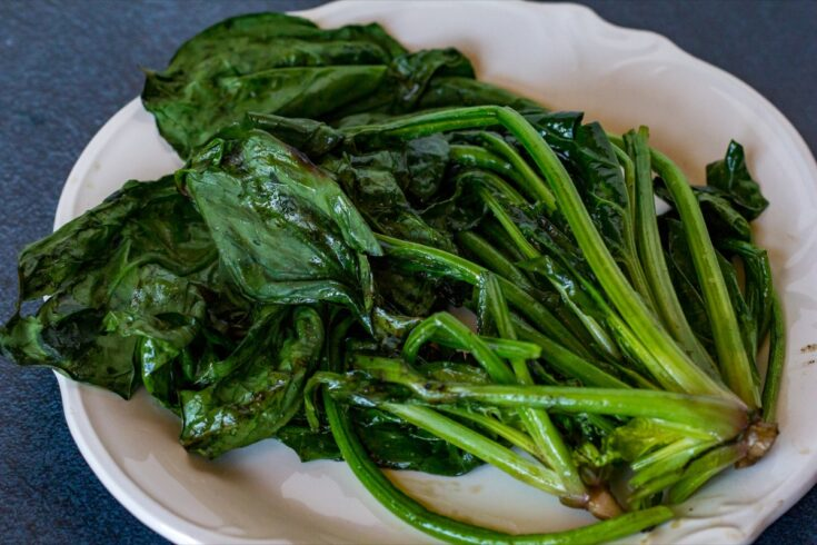 Traeger Grilled Spinach
