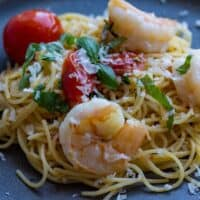 Shrimp Pasta with Tomatoes and Basil