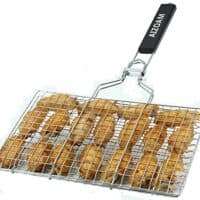 Stainless Steel BBQ Barbecue Grilling Basket!