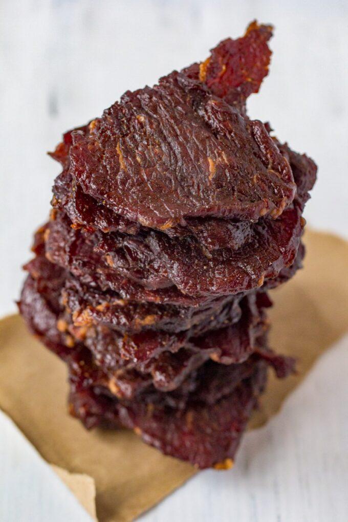 Bulgogi Beef Jerky stacked