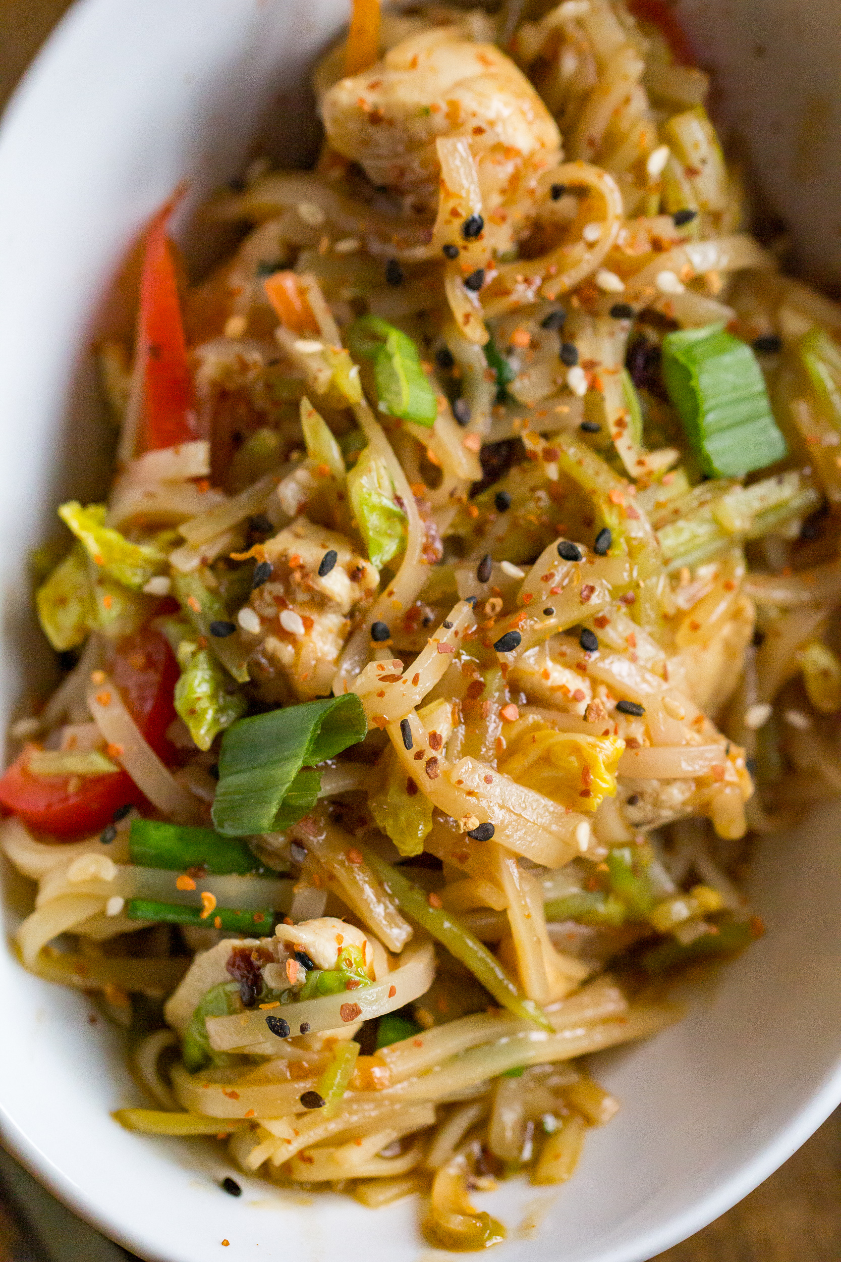 Chicken And Rice Noodles Easy Dinner Recipe From Or Whatever You Do