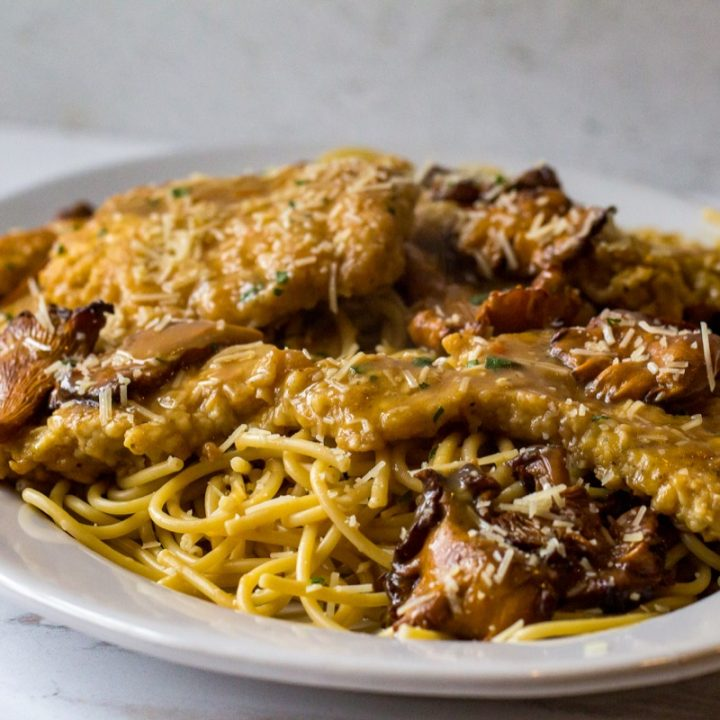 Sherry Chicken with Chanterelles
