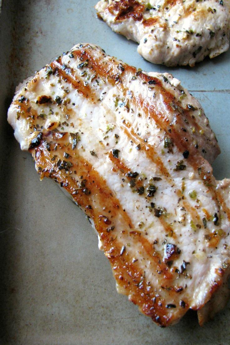 Garlic Herb Grilled Pork Chops