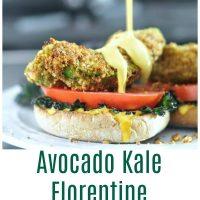 Avocado Kale Florentine with Smoked Paprika Hollandaise