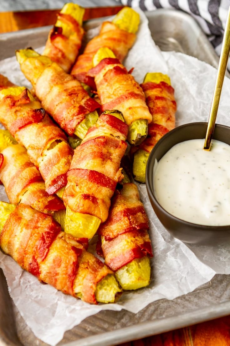Easy Bacon Wrapped Pickles (AKA Pickle Fries) – Unsophisticook