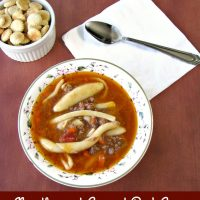 Noodles and Ground Beef Soup (Campbell's Copycat Recipe)