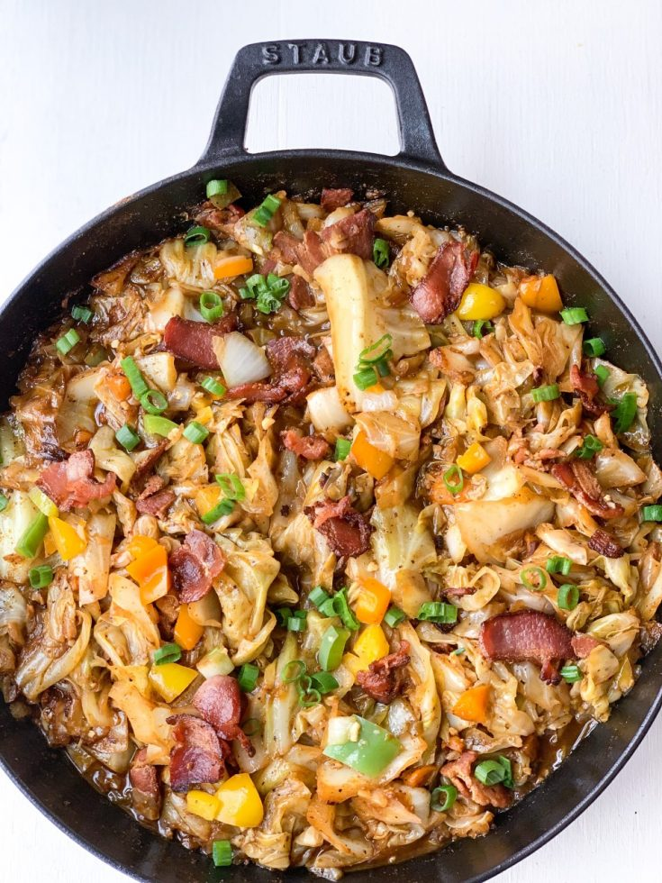 Smothered Cabbage with Bacon