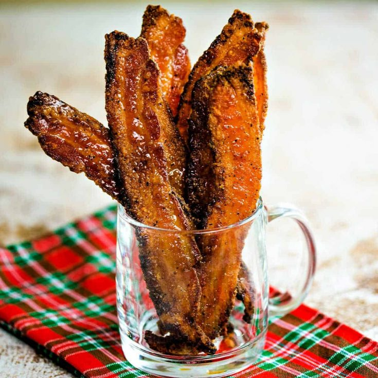 Candied Bacon Recipe + Sample Holiday Brunch Menu
