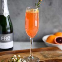 Blood Orange Mimosa Mocktail
