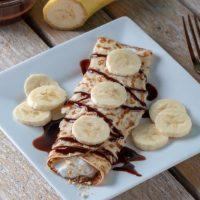 Weight Watchers Chocolate Banana Crepes