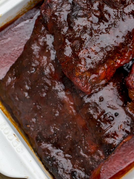 Pile of bbq ribs