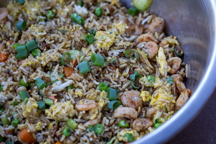 Blackstone Shrimp Fried Rice
